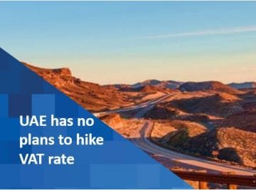 UAE has no plans to hike VAT rate