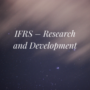 IFRS – Research and Development
