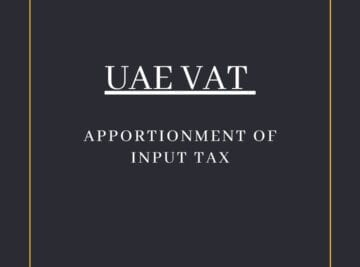 APPORTIONMENT OF INPUT TAX